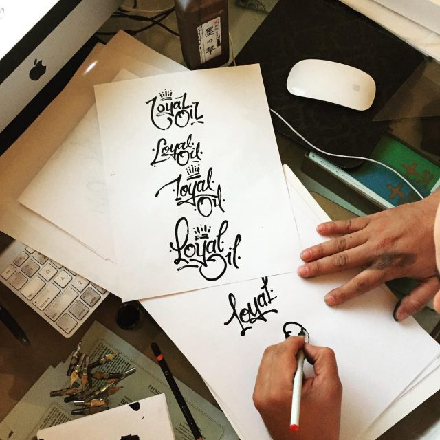 Type exploration for our latest logo project! 159design freehanddesign artskillshellip