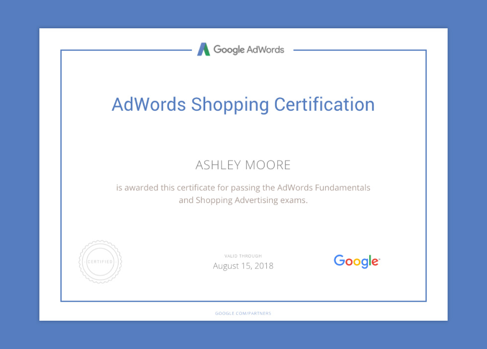 Google Adwords Certificate - 159 Design